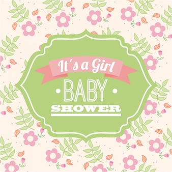 Illustration vectorielle de baby shower graphisme