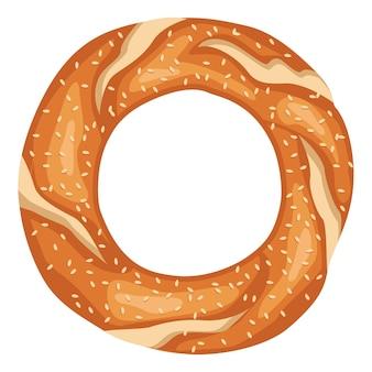 Illustration vectorielle de bagel turque