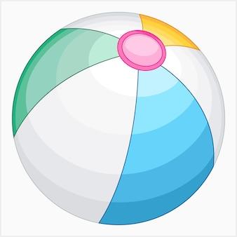 Illustration vectorielle de ballon de plage été
