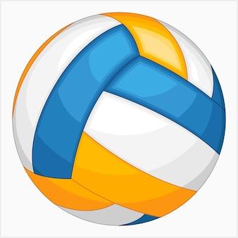 Illustration vectorielle de ballon de volley-ball unique