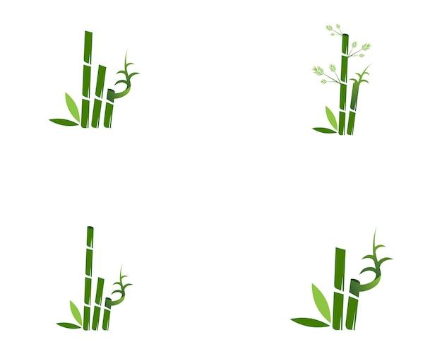 Illustration vectorielle de bambou icône spa logo design