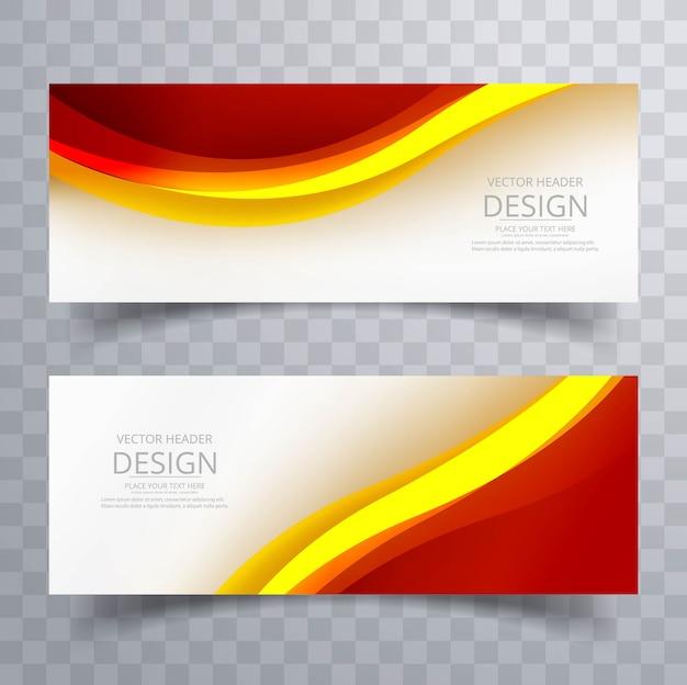 Illustration vectorielle de bannière colorée abstraite