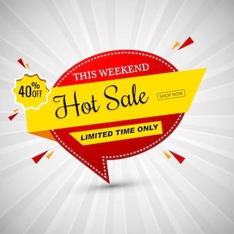 Illustration vectorielle de bannière colorée vente chaude