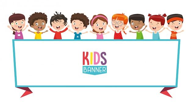 Illustration vectorielle de la bannière pour enfants