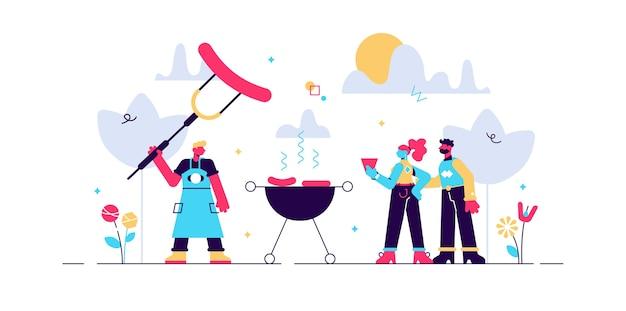 Illustration vectorielle de barbecue.