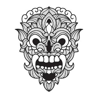 Illustration vectorielle de barong mandala