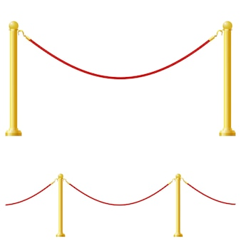 Illustration vectorielle d'une barrière
