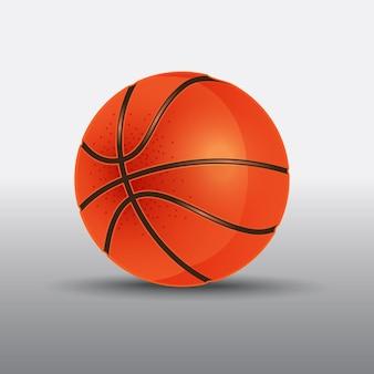 Illustration vectorielle de basket-ball réaliste