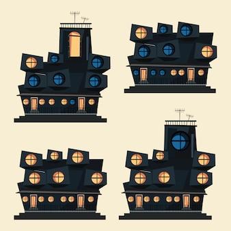 Illustration vectorielle de bâtiment