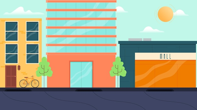 Illustration vectorielle de bâtiments isolés