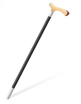 Illustration vectorielle de bâton de marche