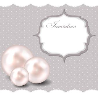 Illustration vectorielle de beauté perle fond