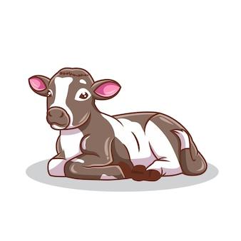Illustration vectorielle de bébé mignon chèvre