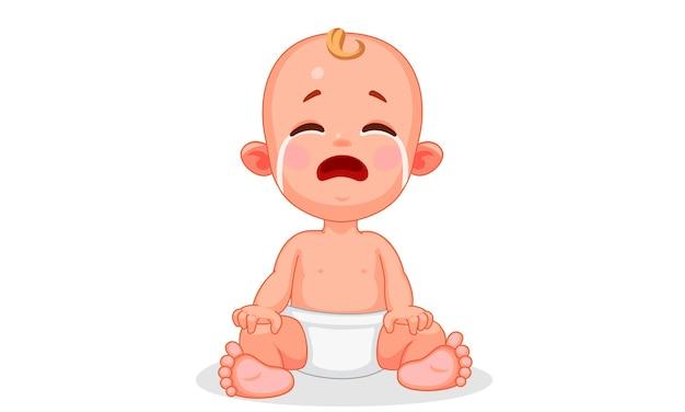 Illustration vectorielle de bébé mignon avec différentes expressions
