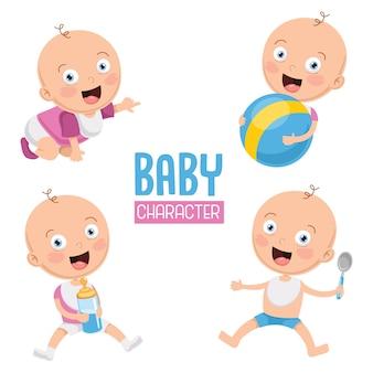 Illustration vectorielle de bébé