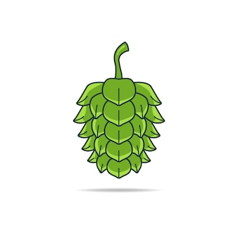 Illustration vectorielle de beer green hop flower prête à des fins de commercialisation et de vente de bière. également utilisé en phytothérapie comme traitement pour l'insomnie, l'anxiété, l'agitation