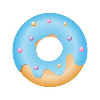Illustration vectorielle de beignet en glaçure dans un style plat
