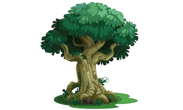Illustration vectorielle bel arbre