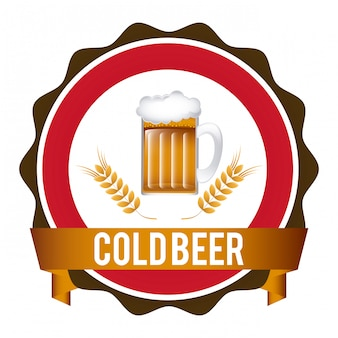 Illustration vectorielle de bière graphisme