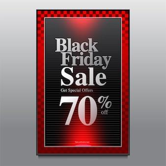 Illustration vectorielle black friday poster et banner design