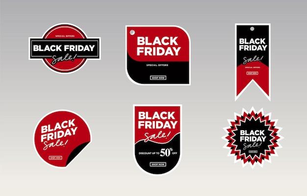 Illustration vectorielle black friday vente autocollant et étiquette