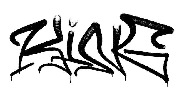 Illustration vectorielle black graffiti tag roi lettrage aérosol peut peinture en aérosol