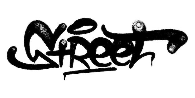Illustration vectorielle black graffiti tag street lettrage aérosol peut peinture en aérosol