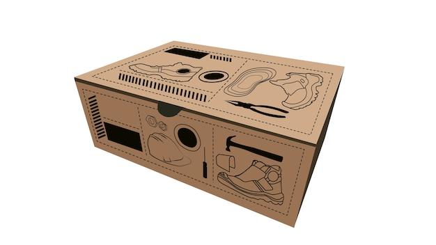 Illustration vectorielle de boîte isolée