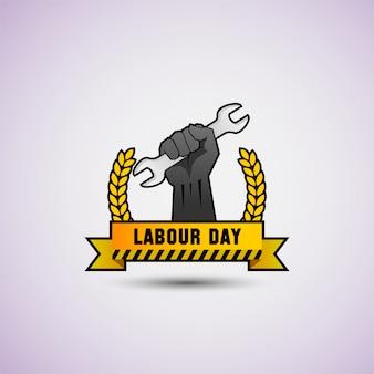 Illustration vectorielle de bonne fête du travail