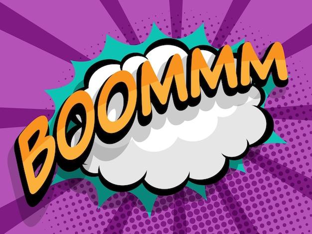 Illustration vectorielle de boom comique pop art fond