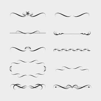 Illustration vectorielle de bordure décorative et jeu de cadre