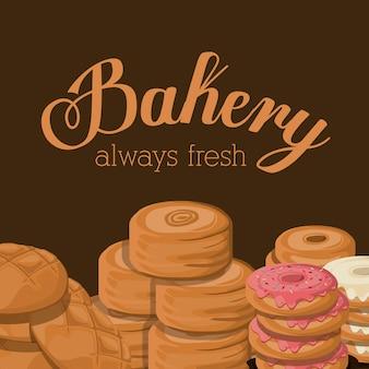 Illustration vectorielle de boulangerie design