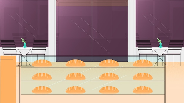 Illustration vectorielle de boulangerie fond