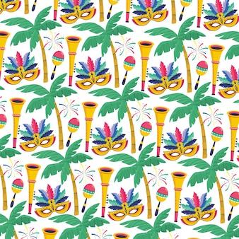 Illustration vectorielle de brésil carnaval