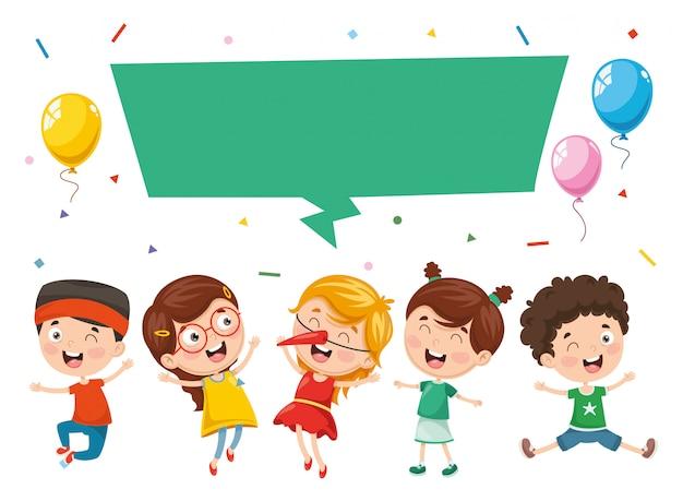 Illustration vectorielle de bulle de dialogue enfants