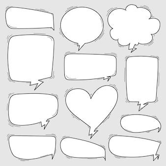 Illustration vectorielle des bulles de discours comique