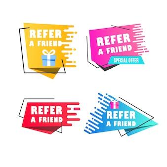 Illustration vectorielle de bulles avec se référer à un message d'ami