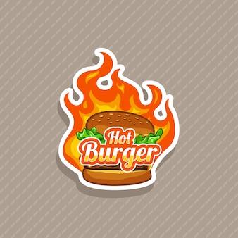 Illustration vectorielle de burger chaud
