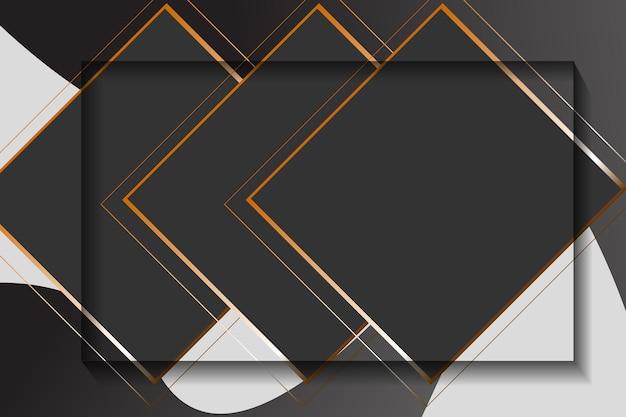 Illustration vectorielle de cadre abstrait noir carré blanc