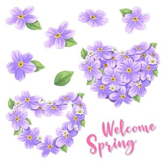 Illustration vectorielle de cadre de fleurs.