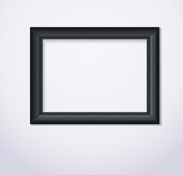 Illustration vectorielle de cadre photo noir élégant