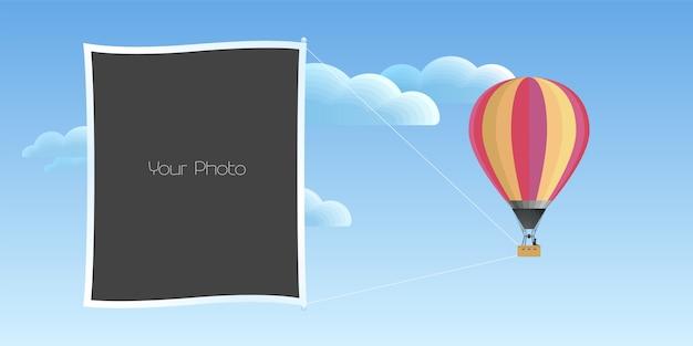 Illustration vectorielle de cadres photo collage