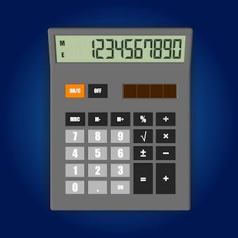 Illustration vectorielle de calculatrice électronique isolée sur fond doux.