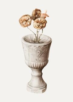 Illustration vectorielle de calice vintage, remixée à partir de l'œuvre d'art de mina lowry