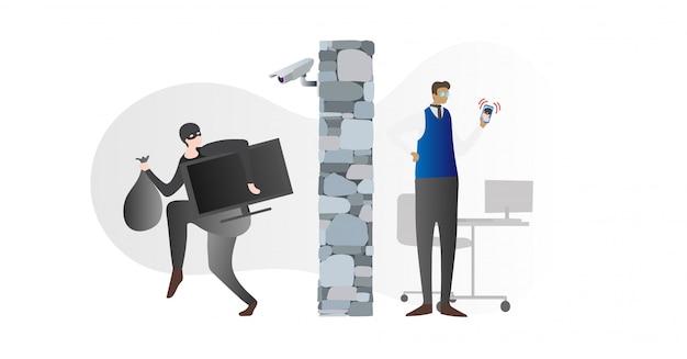 Illustration vectorielle de caméras de sécurité à la maison