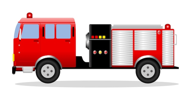 Illustration vectorielle d'un camion de pompiers
