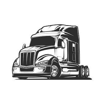 Illustration vectorielle de camion