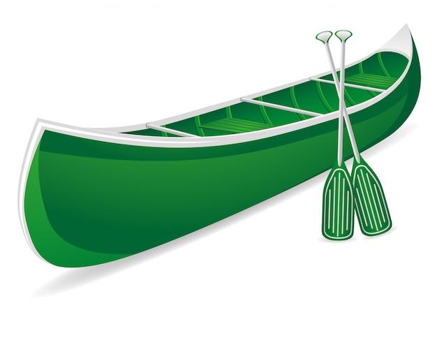 Illustration vectorielle de canoë
