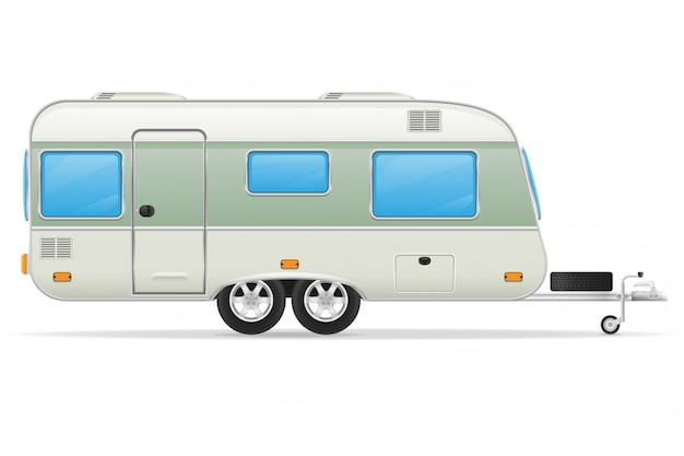 Illustration vectorielle de caravane de remorque