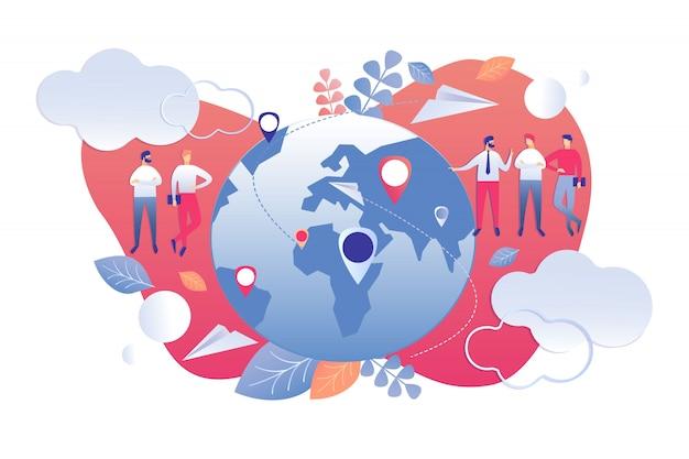 Illustration vectorielle caricature d'analyse démographique.